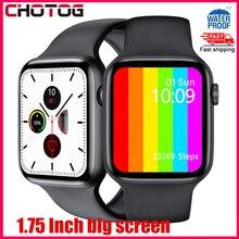 1.75 Cal ekran inteligentny zegarek mężczyźni kobiety temperatura ciała ekg Smartwatch monitorujący ciśnienie krwi wodoodporny zegarek z trackerem Fitness PK W34