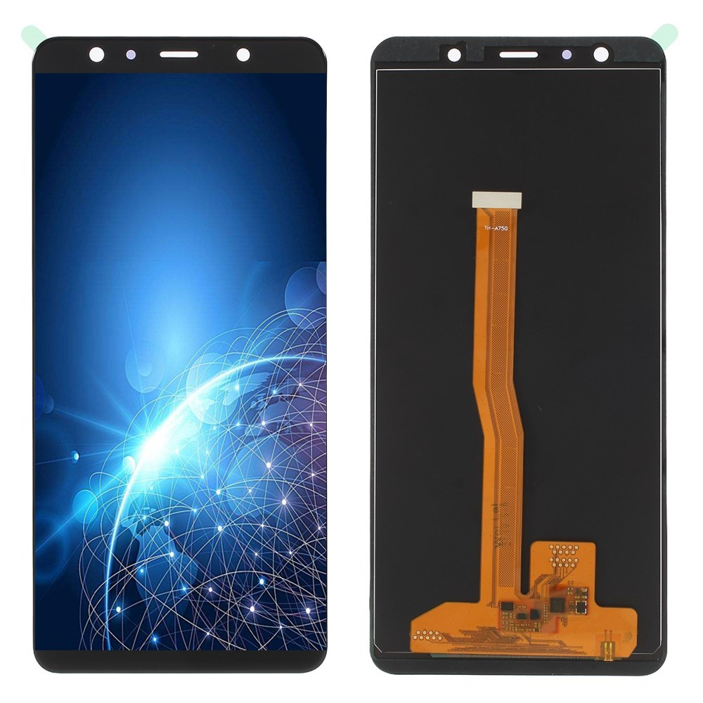 6.0 inch Super AMOLED LCDs For <font><b>Samsung</b></font> Galaxy <font><b>A7</b></font> 2018 A750 SM-A750F A750F With Frame <font><b>LCD</b></font> Display with Touch Screen Assembly Part image