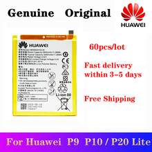 60pcs/lot Quickly Received Original Battery HB366481ECW For Huawei P9 Ascend P9 P10 Lite P20 Lite G9 honor 8 5C Phone Batteria 2018 new 100% original hb366481ecw real 3000mah battery for huawei p9 ascend p9 lite g9 honor 8 5c battery