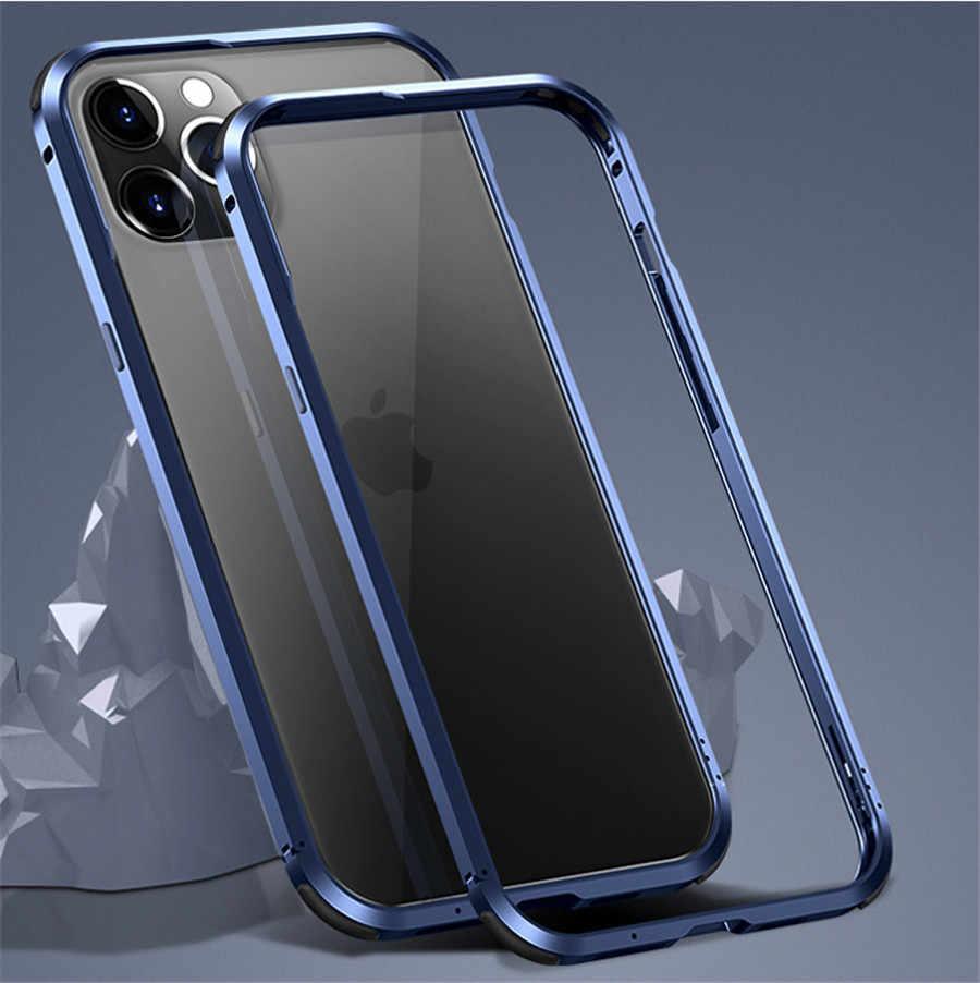 con protecci/ón de Borde Elevado para Parachoques Interno iPhone 12//12 Pro 6.1 Cubierta r/ígida Delgada de Parachoques de Metal con Marco de Aluminio para iPhone 12 Pro MAX 12 Mini