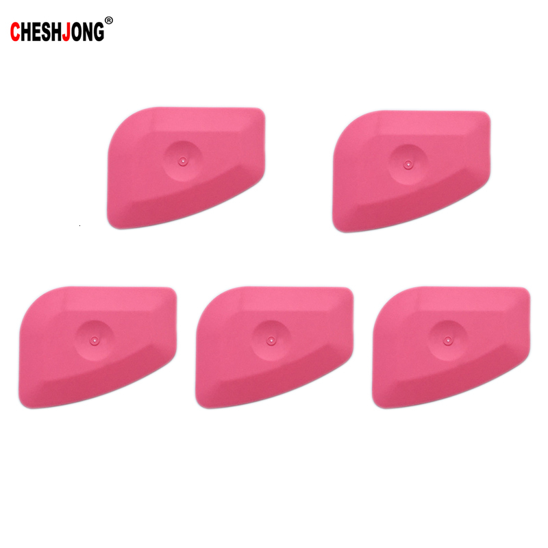 5pcs Car Tools Window Tints Carbon Fiber Foil Car Wrap Vinyl Film Pink Scraper Squeegee Auto Install And Household Cleaning Tool