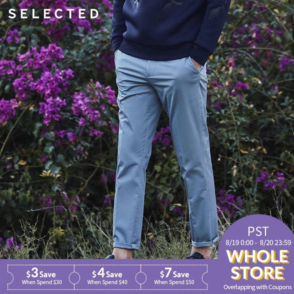 SELECTED Slim fit business leisure long suit pants S|41818Y502