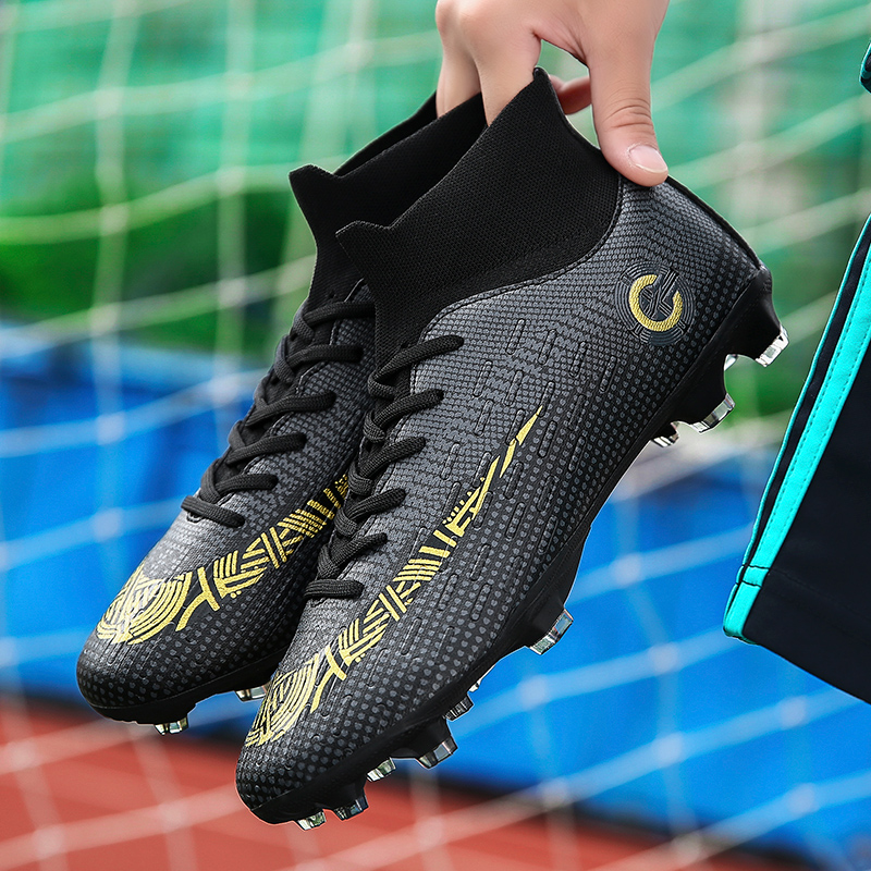 Professional Original Soccer Shoes Sneakers Men High Top Football Boots Outdoor TF/AG Training Football Shoes Kids Futsal Shoes