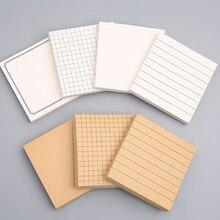 1 шт. подкладке бумаги для заметок на клейкой основе селфи-Палка с подкладкой блокноты для заметок, 3x3 дюйма, пустой и сочетание сетчатого мат...