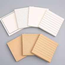 1pc Lined Sticky Notes Self-Stick Lined Note Pad, 3 x3 in, Blank & Grid & Lined Post Memos for Office, School and Home 80 Sheets