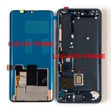 شاشة ام أند سين أصلية 6.47 بوصة لهاتف شاومي مي نوت 10 مي نوت 10 برو شاشة LCD + إطار محول رقمي للوحة اللمس لهاتف شاومي Mi CC9 Pro