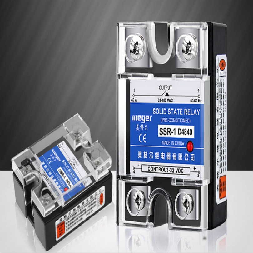 radiator+solid state relay Single-phase 220 v ssr-40da MGR-1 40a D4880 D48100 D48120 Dc control AC 3-32vdc for 24-480