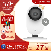 كاميرا YI Home 1080p مزودة بتقنية Wifi 2.4G كاميرا ip داخلية مزودة بخاصية الذكاء الاصطناعي والكشف عن الرؤية الليلية والتنبيهات عن النشاط مناسبة للمنزل/القطط/الحيوانات الأليفة/السحابة