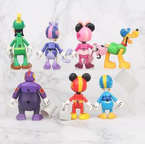 Image 2 - 7 יח\סט מירוץ מיקי פעולה דמויות צעצועי Brinquedo צעצוע ילדה ילד מתנה לחג המולד 7 10cm