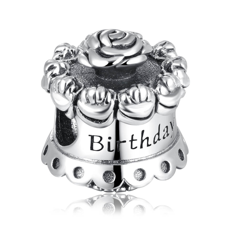 Groovy Authentic 925 Sterling Silver Bead Diy Jewelry Happy Birthday Cake Birthday Cards Printable Opercafe Filternl