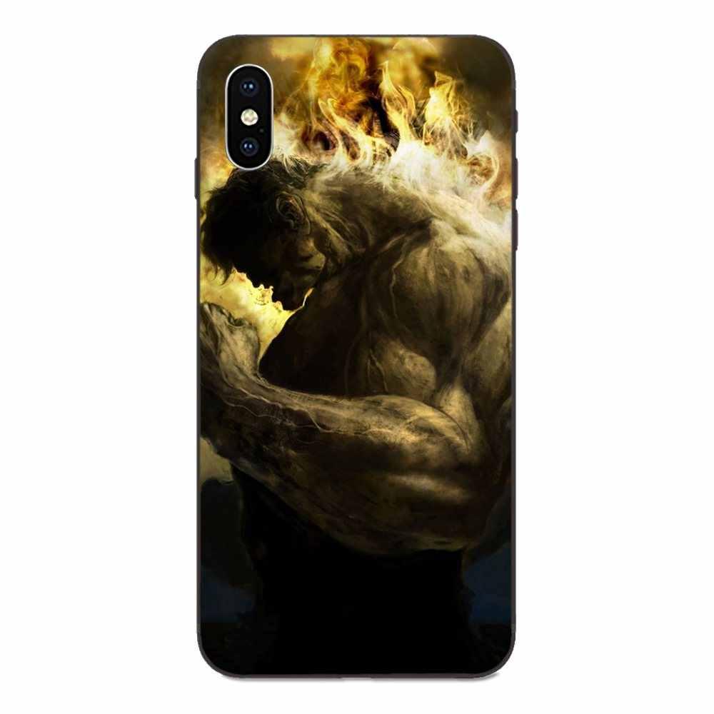 สำหรับ Galaxy A8 A9 Star หมายเหตุ 4 8 9 10 S3 S4 S5 S6 S7 S8 S9 S10 Edge Lite plus Pro G313 คุณภาพสูง Incredible Hulk Marvel