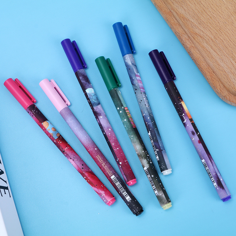 0.5mm Black Ink Novelty Lonely Planet Galaxy Gel Pen Neutral Ink Pen Korean Gift Stationery School & Office Supply