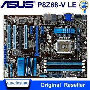 Gebruikt LGA1155 Asus P8Z68-V Le Moederbord Core I7/Core I5/Core I3 DDR3 32 Gb Intel Z68 Originele desktop Asus P8Z68 Mainbaord Atx