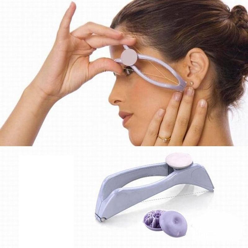 1Set Mini Facial Hair Remover Facial Remover Smooth Women Plastic Cotton Modern Facial Body Hair Removal Female Epilator Tools