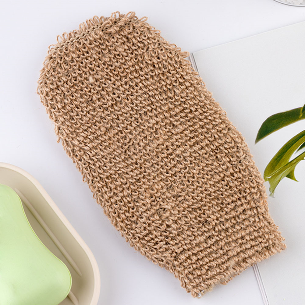 2020 New 2pcs/set Natural Exfoliating Back Scrubber Rub Glove Bathroom Cleaning Towel Mitten