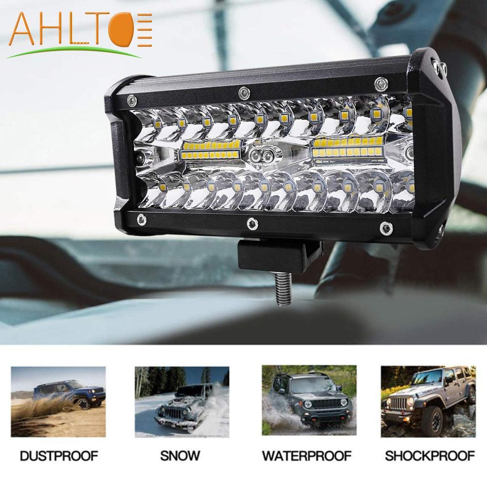 7 Inch 18W LED Light Bar Offroad Work Lamp Spot Flood Combo 4WD SUV Boat Truck