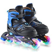 Inline-Skates Illuminating-Wheels Children with Outdoor Tracer/adjustable