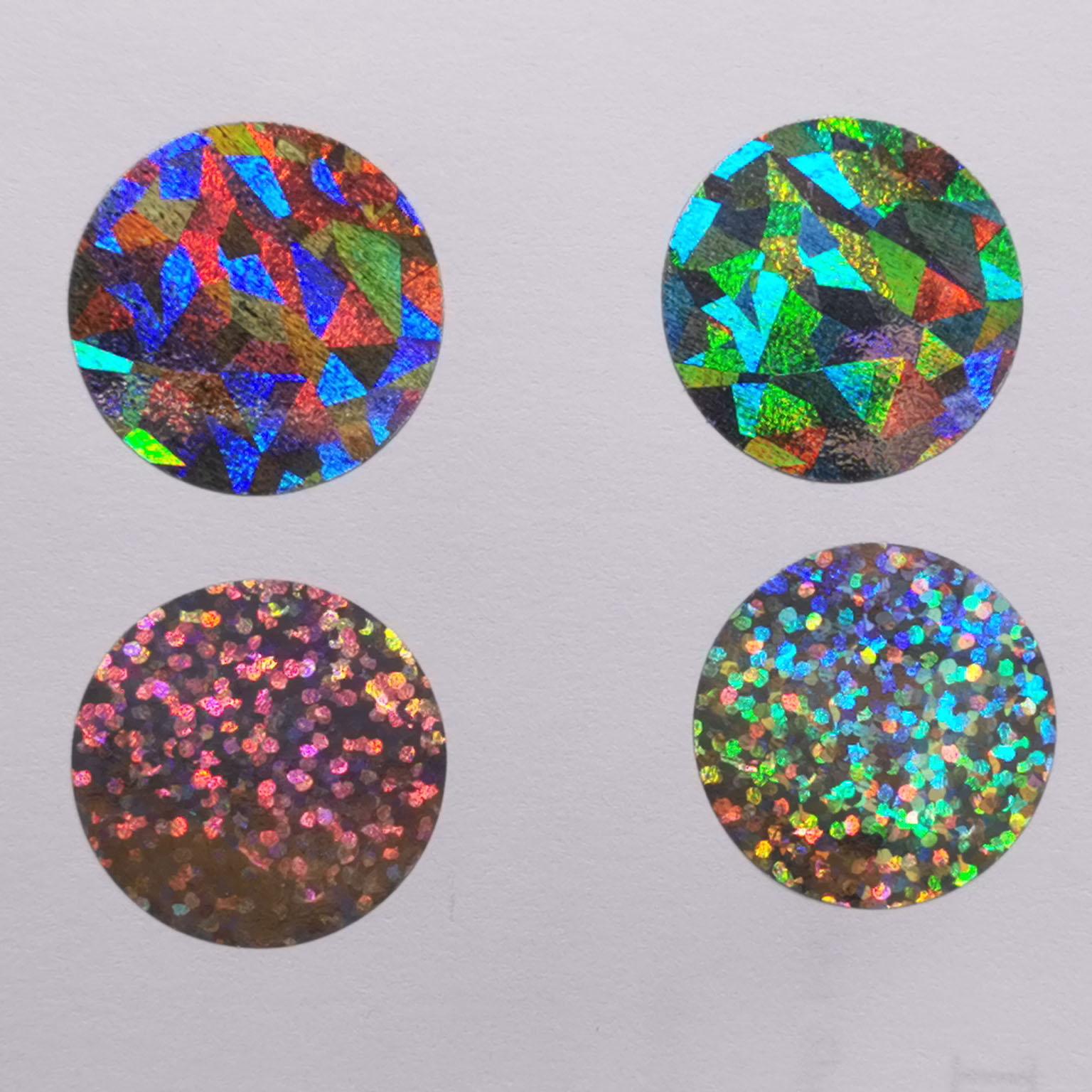 adesivos 25*25mm diamante laser cor metálico holograma