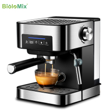 BioloMix 20 Bar Italian Type Espresso Coffee Maker Machine with Milk Frother Wand for Espresso, Cappuccino, Latte and Mocha