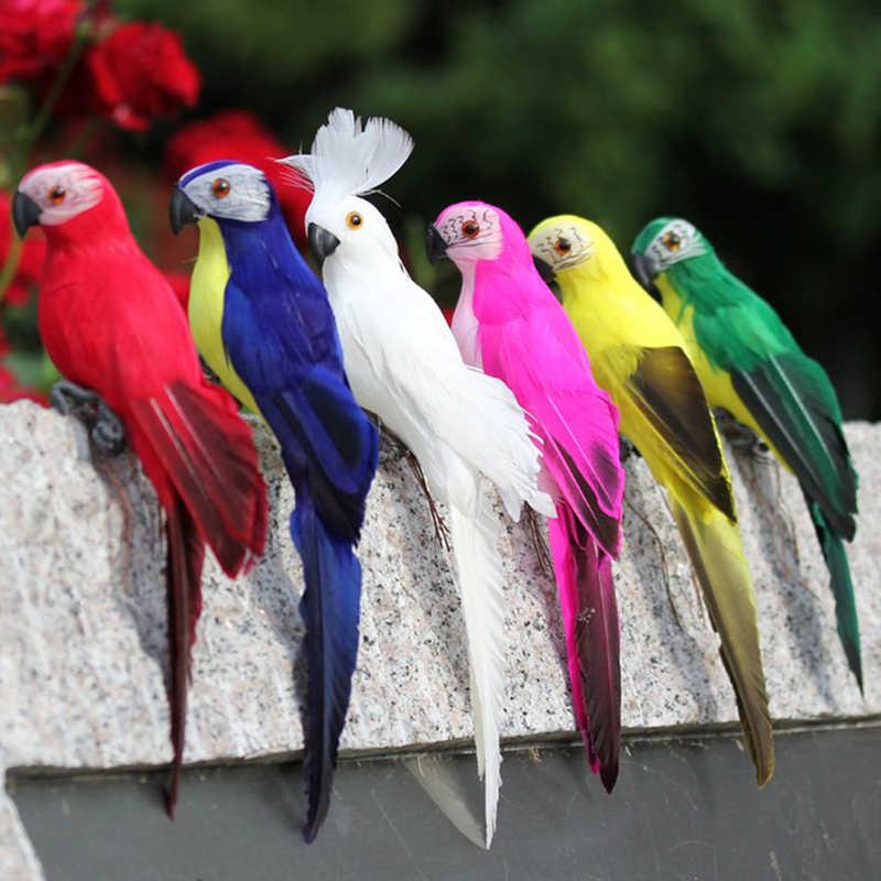 Outdoor Garden Yard Bird Figurine Small Artificial Feathered Birds Model
