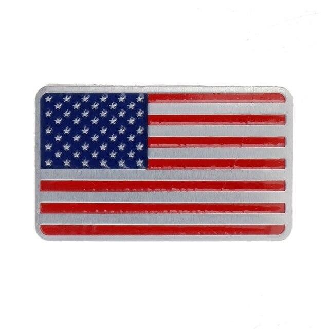 NoEnName_Null Metal American US Flag Car Sticker Logo Emblem Badge For Jeep Bmw Fiat VW Ford