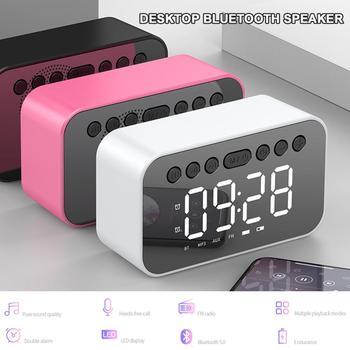 Bluetooth Speaker With LED Display Dual Alarm Clock Desktop Multi-Function Speaker FM Radio 3 Different Brightness Multiple Mode ihome id95sz silver dual alarm with fm ipod