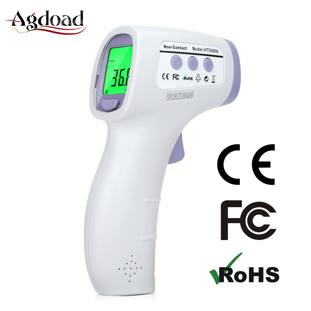 Adults Children Baby Forehead Infrared Thermometer 5-15cm Non-contact Digital Fever IR