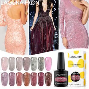 LAGUNAMOON Sandy Beach Gel Polish UV LED Soak Off Varnish Lacquer Manicure Pedicure Gel Nail Polish Beauty Salon Nail Arts 8ML