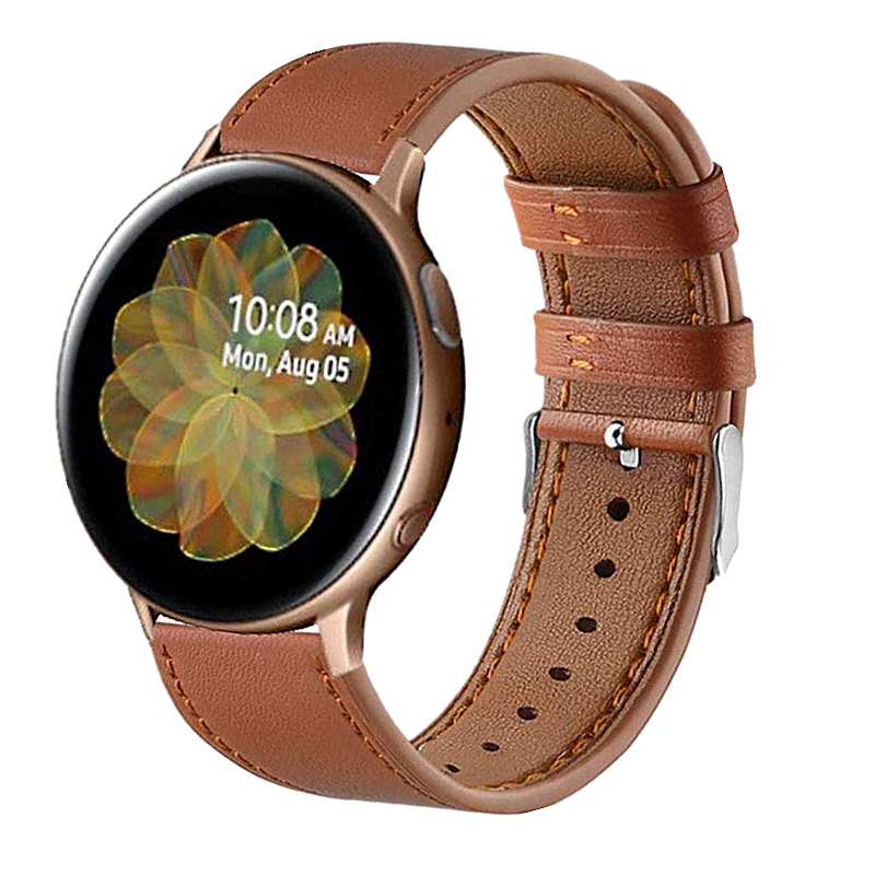 22mm 20mm Watch Strap For Samsung Galaxy 46mm 42mm Active 2 44mm 40mm Gear S3 Leather Band For Huami Amazfit Bip Sport Bands