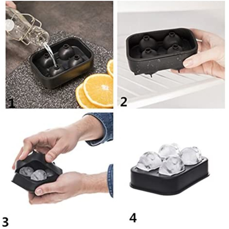2020 Ice Cube Maker DIY Creative Silica Gel Gun Bullet Skull Shape Tray Mold Home Bar Party Cool Whiskey Wine Ice Cream Bar Tool