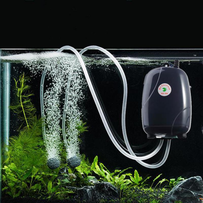 Аквариумный воздушный мини-насос 220 В, бесшумный кислородный насос для аквариума, водный аэратор, воздушный насос для рыб