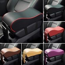 цена на Car Center Console Arm Rest Seat Box Pad Vehicle Protective Car Accessories Interior Leather Car Armrest Pad Auto Armrests