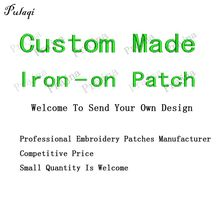Pulaqi Custom Made Iron On Patches Embroidery Patches For Clothes Stickers Applique Badges