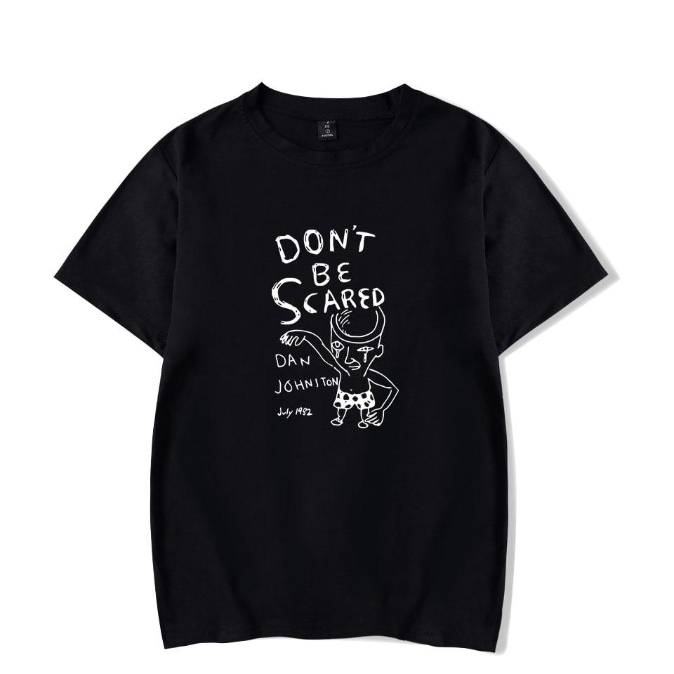 New Print Daniel Johnston Men Women T Shirt Fashion Summer Comfortable Tops Cool Daniel Johnston Hot Casual Black T-Shirt