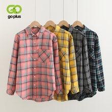 Goplus блузка рубашка для женщин в винтажном стиле; Клетчатые