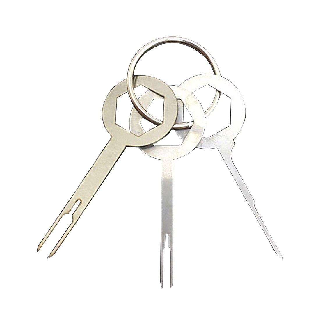 Купить с кэшбэком 11Pcs/Set Terminal Removal Tools Car Electrical Wiring Crimp Connector Pin Extractor Kit Car Repair Hand Tool Set Plug key CY982