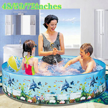 цена на Portable Indoor Outdoor Baby Swimming Pool Inflatable Children Basin Bathtub kids pool baby Ocean ball pool Toys for Children
