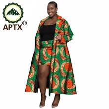 Африканская одежда для женщин комплект из ветровки и коротких
