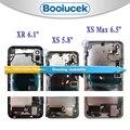 Для iphone X XS XR с гибким кабелем  корпус  полная сборка  крышка батареи  дверь  задняя средняя рамка  шасси для iphone XS Max