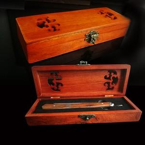 Image 5 - Livraison gratuite Titan rasoir manche en bois lame en acier inoxydable rasage pointu