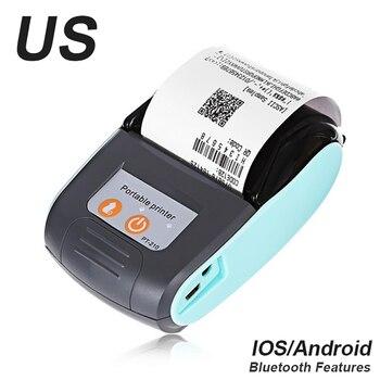 Impresora térmica de recibos inalámbrica Bluetooth Mini 58mm para Smartphones máquina impresora de facturas de tienda para Android iOS Windows para tienda