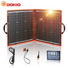 Dokio 80W (40*2 sztuk) 18V elastyczny składany Panel słoneczny + 12V 24V kontroler słoneczny przenośny Panel słoneczny na kempingu podróży tanie tanio None 40x22x0 24(in) 100x54x0 6(cm) FFSP-80W Monocrystalline Silicon 80W±3 22 50V 18 00V 4 69A 4 44A -45 to 80℃ DC1000V