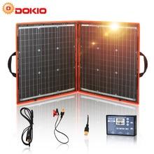 Dokio Panel Solar plegable Flexible + Controlador Solar portátil de 12V/24V, 80W (40x2 uds), 18V, para Camping/viajes
