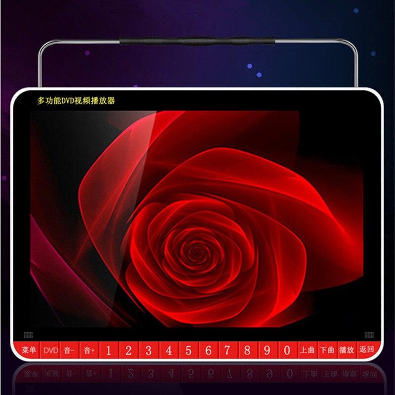 Portable 19 mobile DVD disc machine 14.1 inch HD screen video audio sound TF card usb U disk player speaker AV input output mp3 - 5