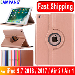 For iPad 9.7 2018 2017 Case Cover for iPad Air 2 Air 1 Case 5 6 5th 6th Generation Funda 360 Degree Rotating Leather Smart Coque