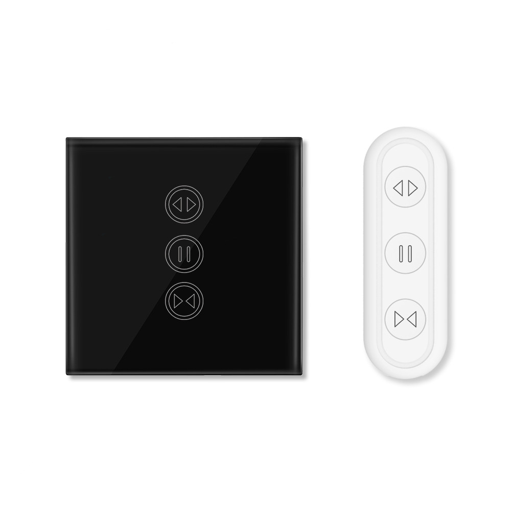 RF WIFI  Black Curtain Shutter Switch Works With LoraTap 3 Button Remote Control Only