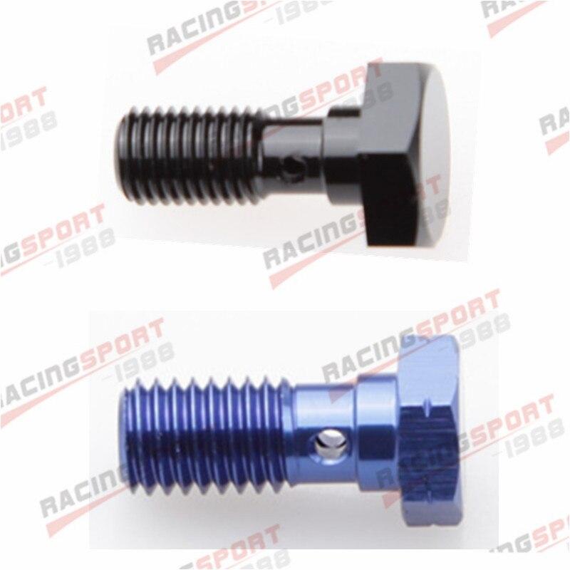 Parafuso Banjo UNF 7/16-liga de Alumínio Banjo Bolts Brake Adaptor 20UNF azul/preto-0