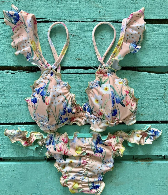 Бразильские комплекты бикини с принтом, Женские сексуальные стринги, купальники из двух частей, пляжные купальные костюмы для девочек 2020|Купальники  |   | АлиЭкспресс
