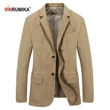 Suits Jacket Blazer Coats Spring Men's Gentleman Cotton Slim Overalls Business Male Blue