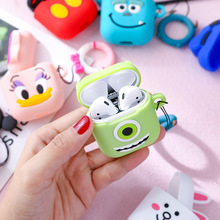 3D Animal Patttern Cute Cartoon Airpods Silicone Case Protective Cover With Finger Ring Strap